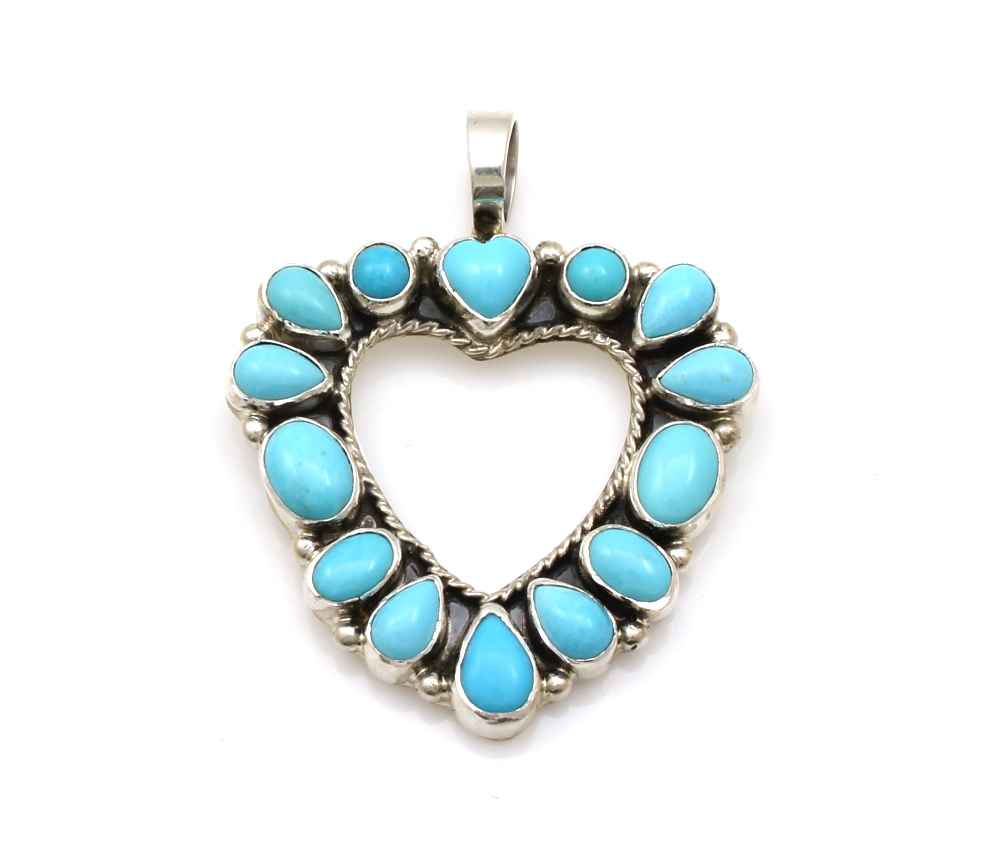 Turquoise Heart Penda... by  Don Lucas - Masterpiece Online