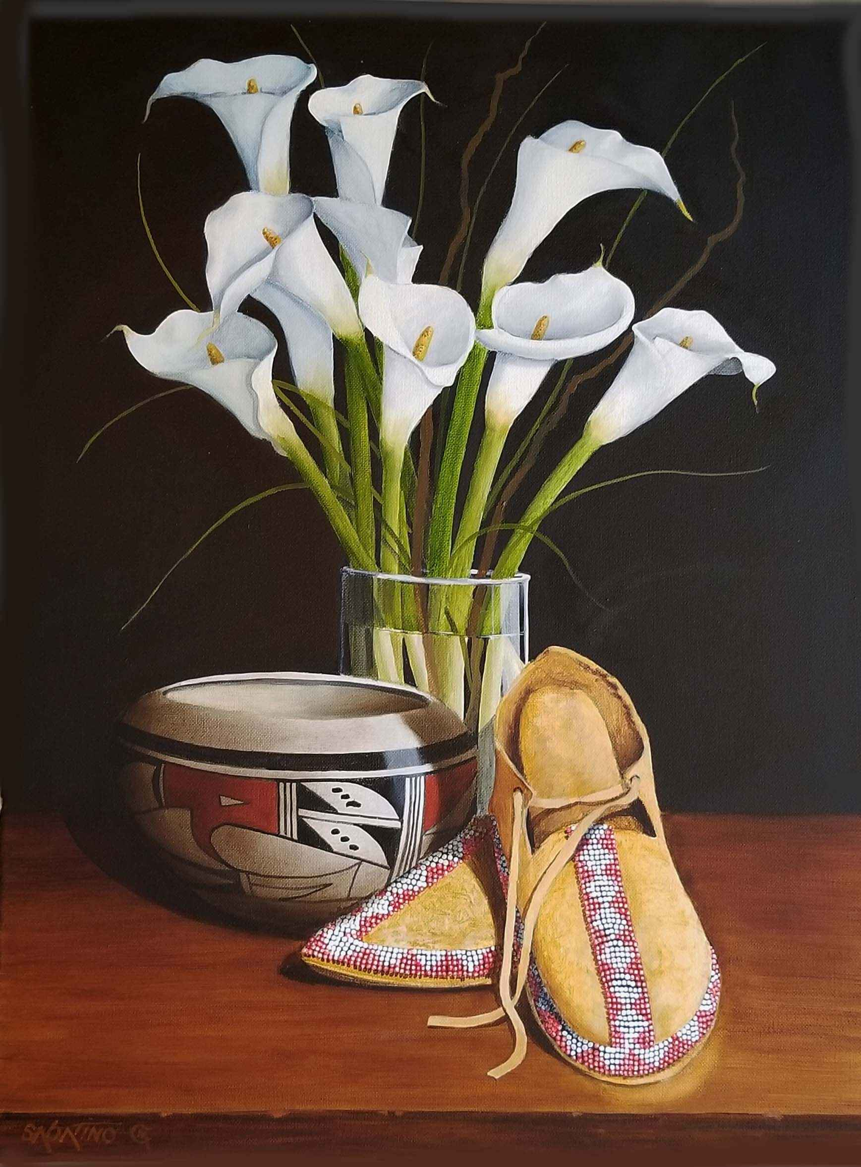 Lilies And Moccasins by  Chuck Sabatino - Masterpiece Online