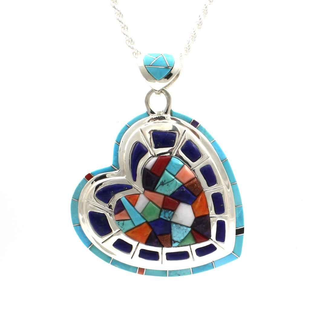 Hearts In Frame Penda... by  Ben Nighthorse - Masterpiece Online