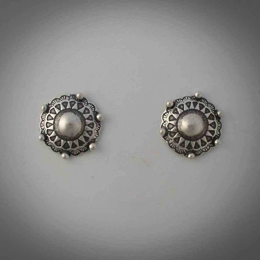 Silver Button Earrings by  Mummy's Bundle - Masterpiece Online