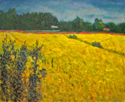 Yellow Wheat Field by  Andres  Morillo - Masterpiece Online