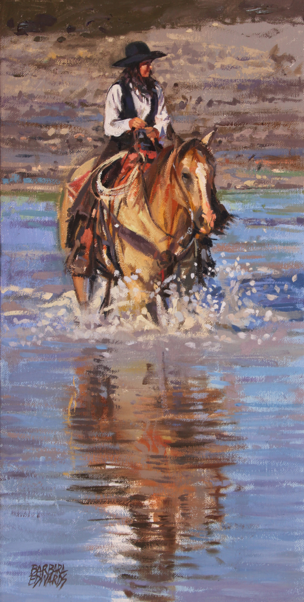 SOLD- Quiet Crossing by  Barbara Summers Edwards - Masterpiece Online