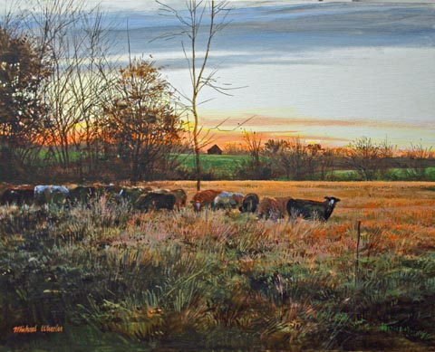 Cattle with Distant B... by  Michael Wheeler - Masterpiece Online