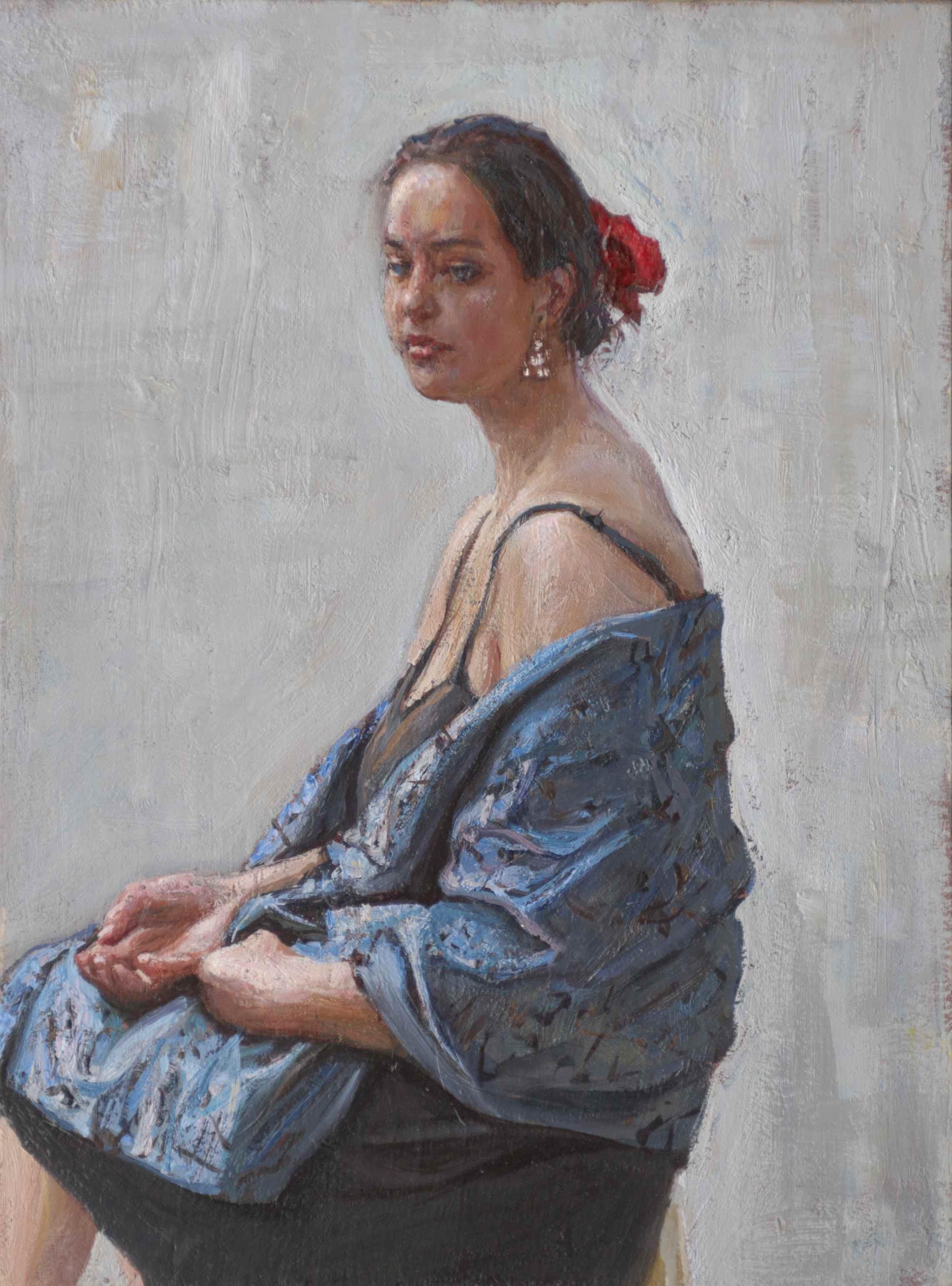 The Blue Shawl by  Daud Akhriev - Masterpiece Online