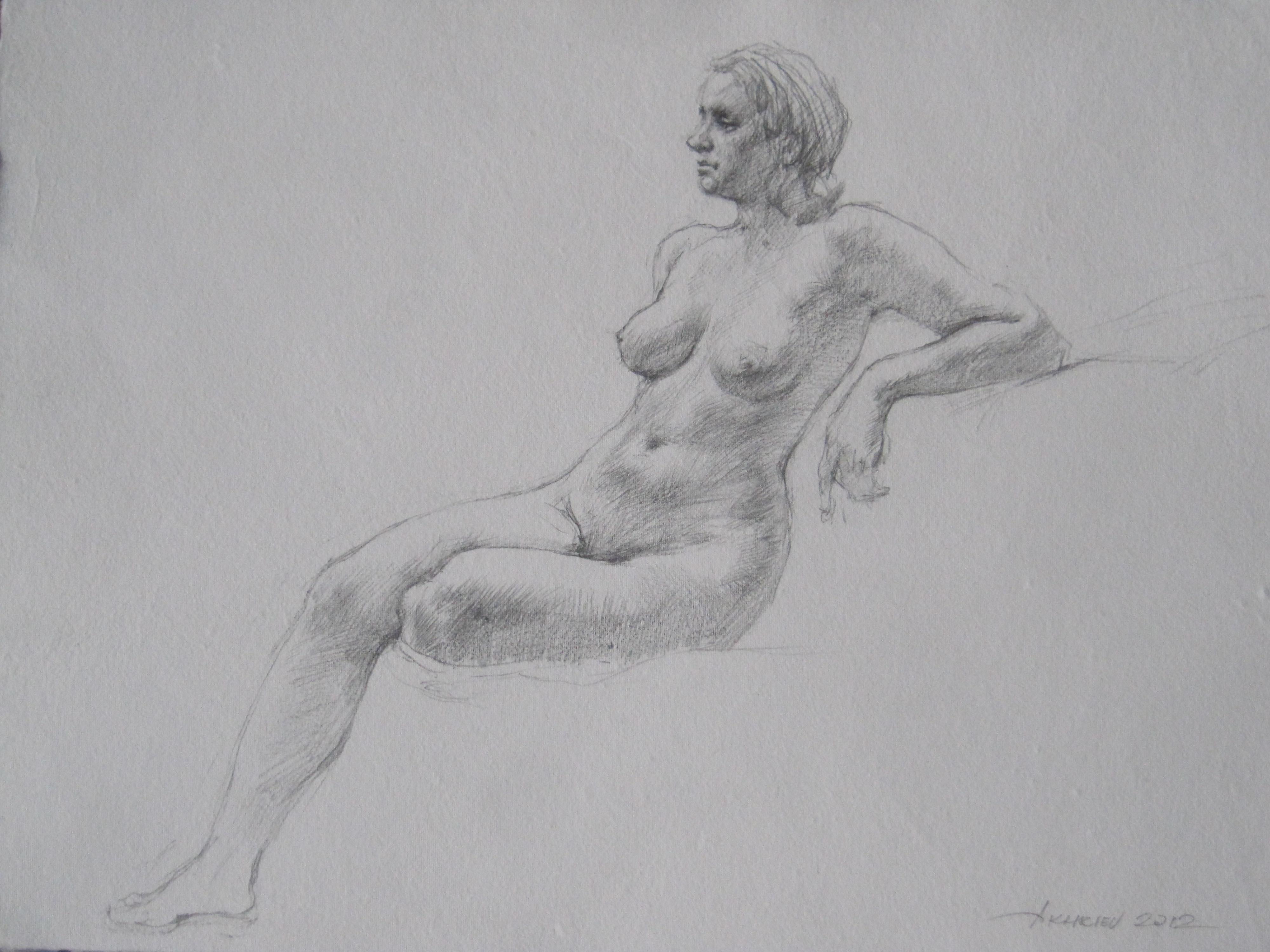 Sara Seated by  Daud Akhriev - Masterpiece Online