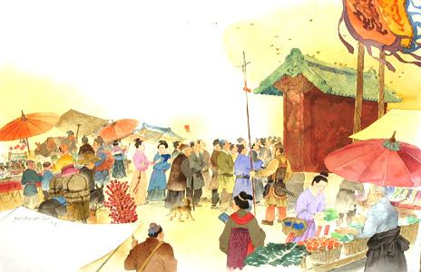 Market Place  by  Mou-Sien Tseng