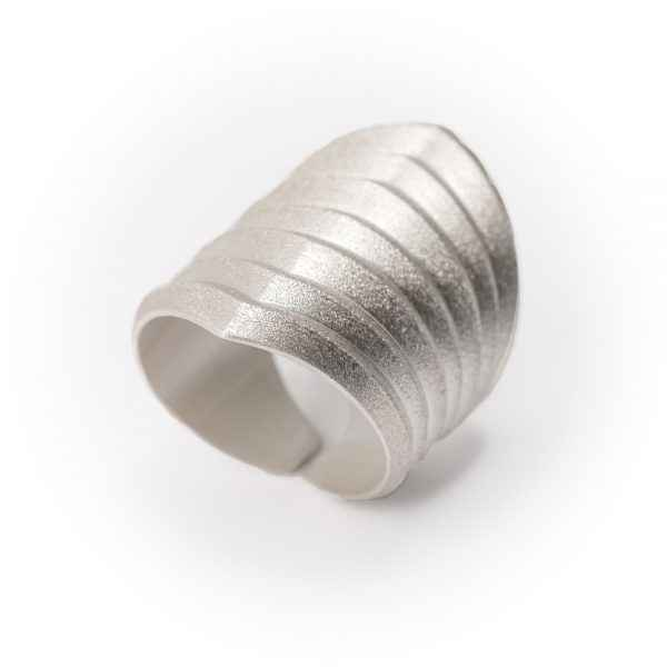 Rhomboid Silver Ring by Ms. Maria Samora - Masterpiece Online