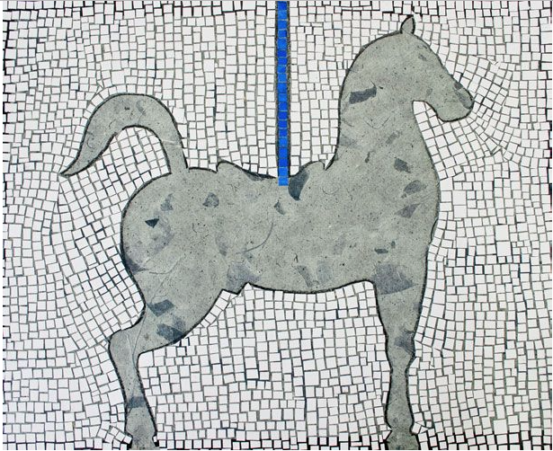 Gray Horse and the Bl... by Mr. Carlos Sanchez Vegas - Masterpiece Online