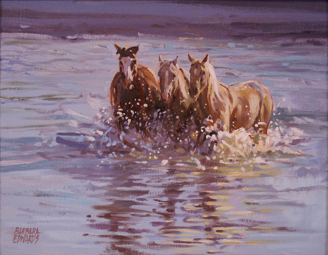 SOLD- Three Crossing by  Barbara Summers Edwards - Masterpiece Online