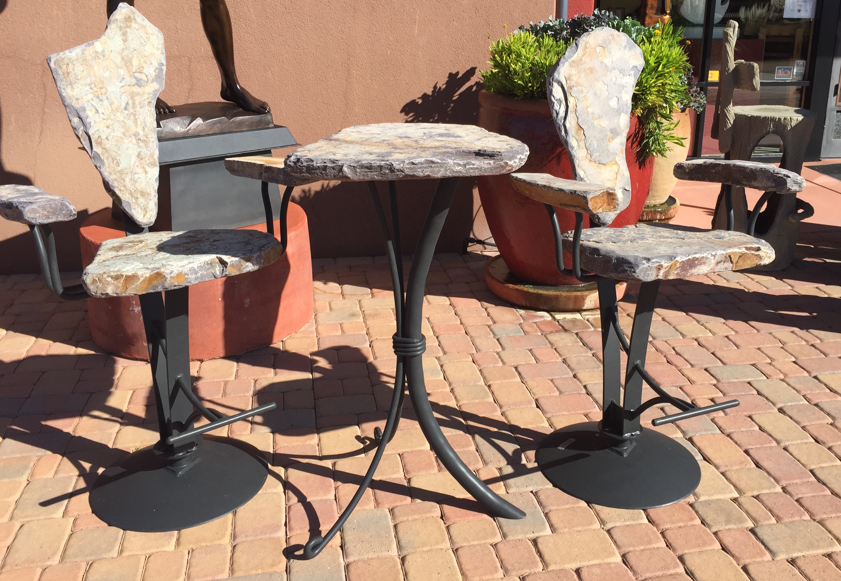 Bar Set- Powdercoated by   Stone Chair Sets - Masterpiece Online