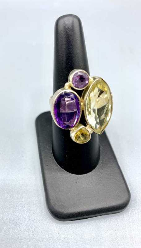 Amethyst Citrine Peridot Ring By Mary Churchman Your Private Collection