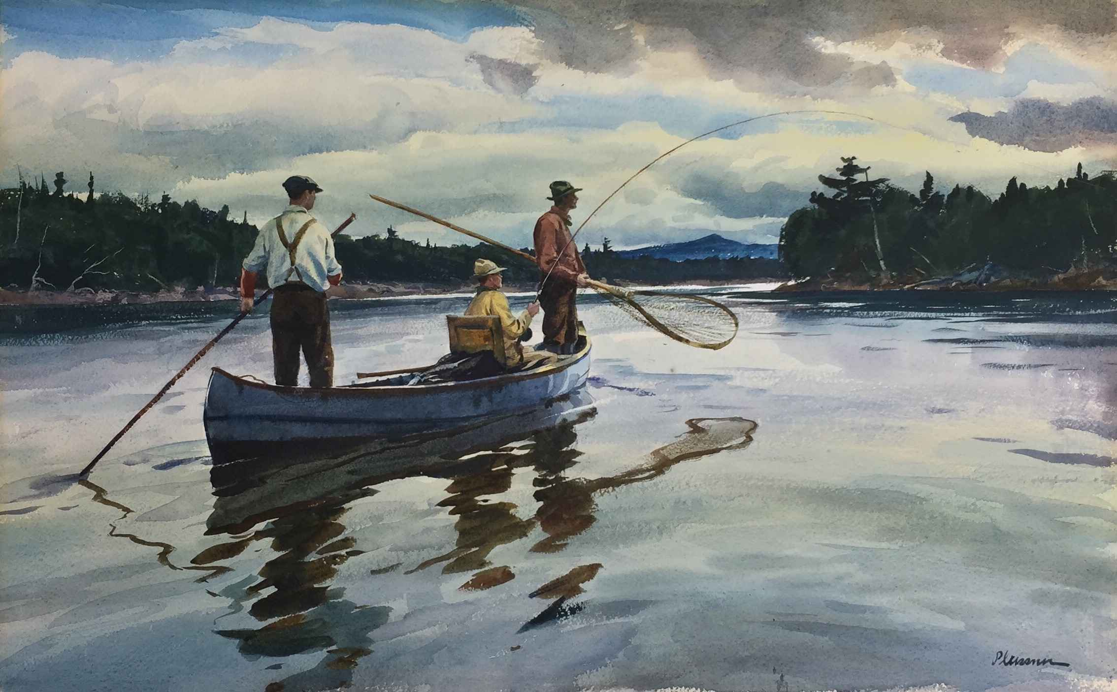 Playing a Fish (SCD R... by  Ogden Pleissner - Masterpiece Online