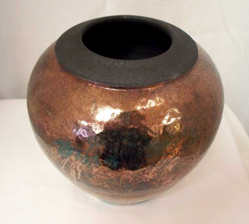 Raku Pot by  Dan Triece - Masterpiece Online