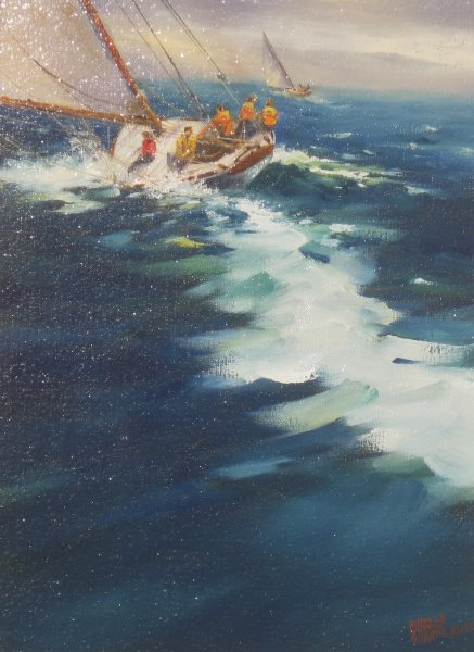 Time to Reef by  Charles Sharpe - Masterpiece Online