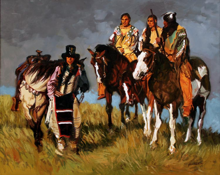 SOLD- Chief Scout by  Glen Edwards - Masterpiece Online
