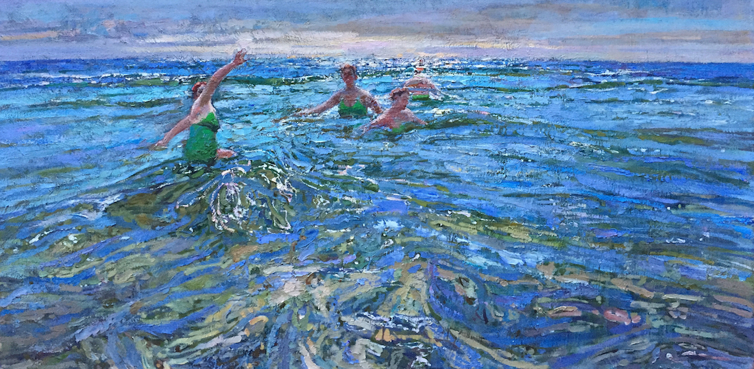 The Swimmer, 2 by  Daud Akhriev - Masterpiece Online