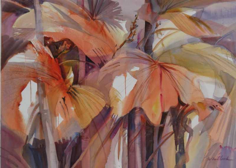 RW - 2085 - Fan Palms by  Roger Whitlock - Masterpiece Online