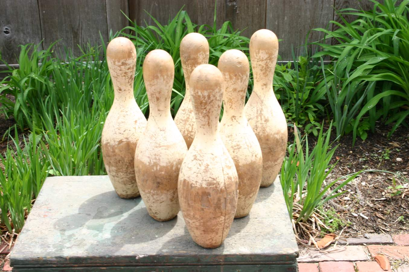 Six Wooden Bowling Pi... by  Antiques  - Masterpiece Online