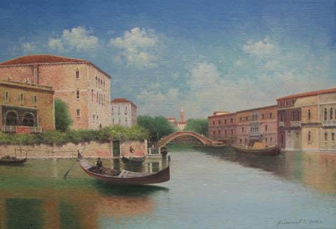 Canals Venice by  Vasily Gribennikov - Masterpiece Online