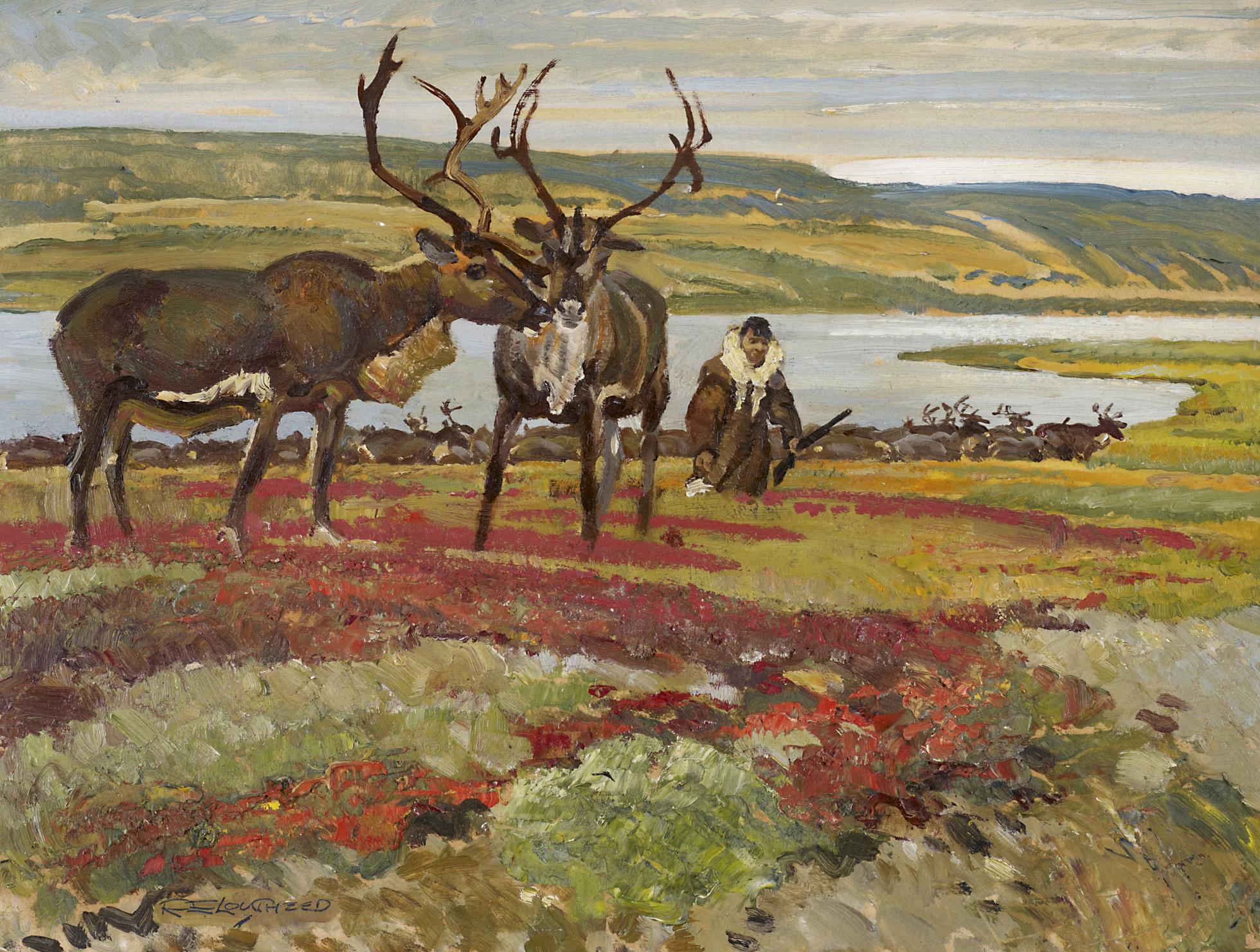 Eskimo Guarding by  Robert Lougheed - Masterpiece Online