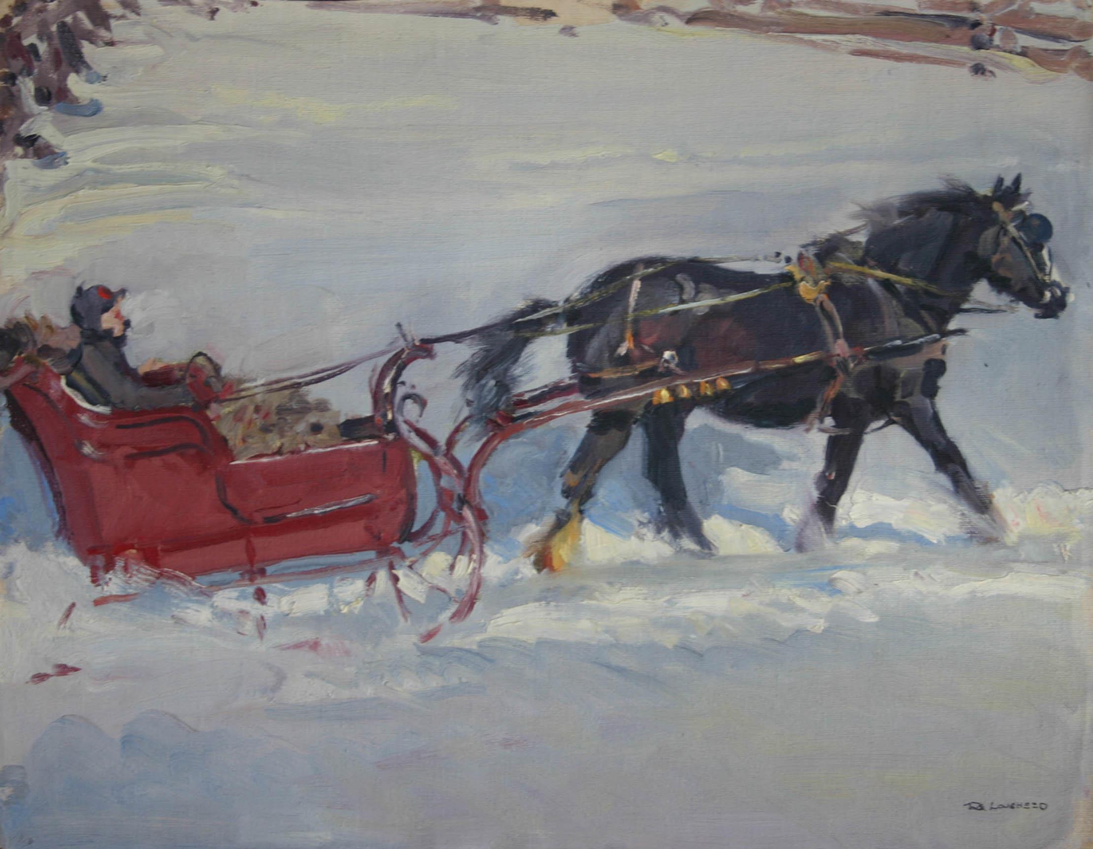 Canada Sleigh Ride by  Robert Lougheed - Masterpiece Online