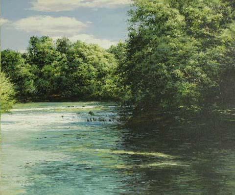 Summer Stram With Wat... by  Michael Wheeler - Masterpiece Online