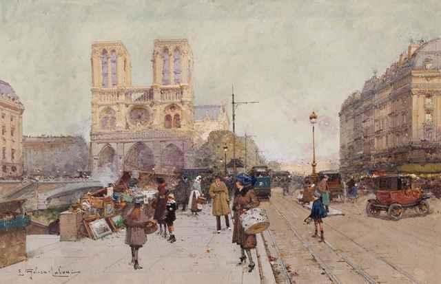 Notre Dame by  E. Galien Laloue  - Masterpiece Online