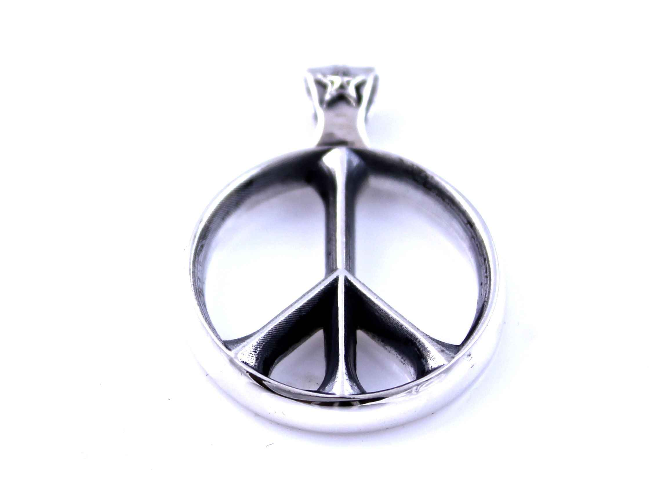 lumo tiny necklace peace pendant wg products wb sign