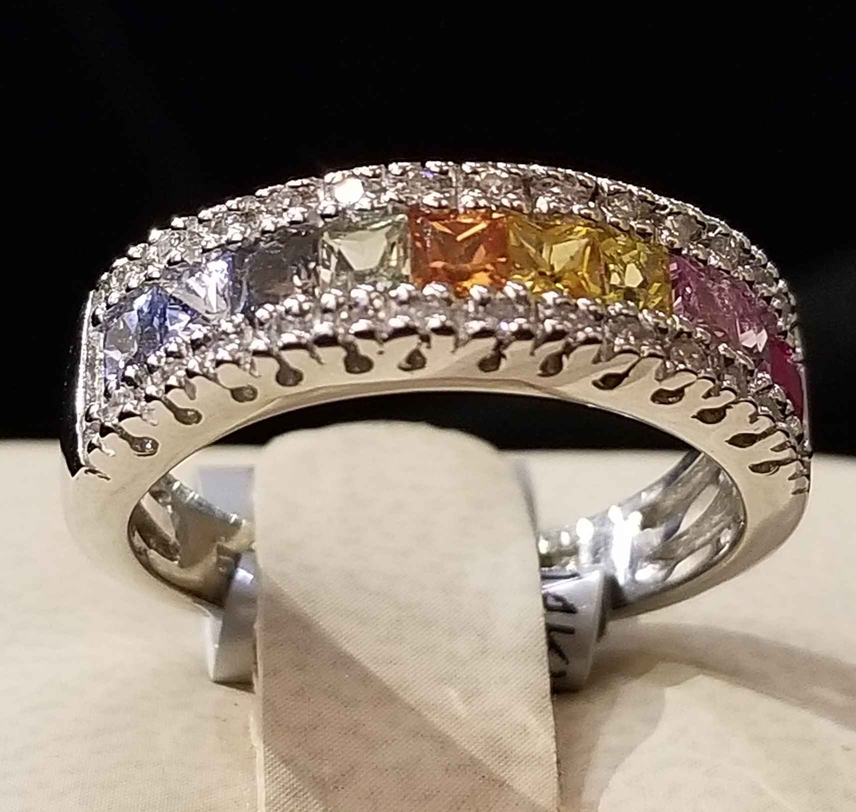 Multi Gemstone Band R... by  My Jeweler - Masterpiece Online