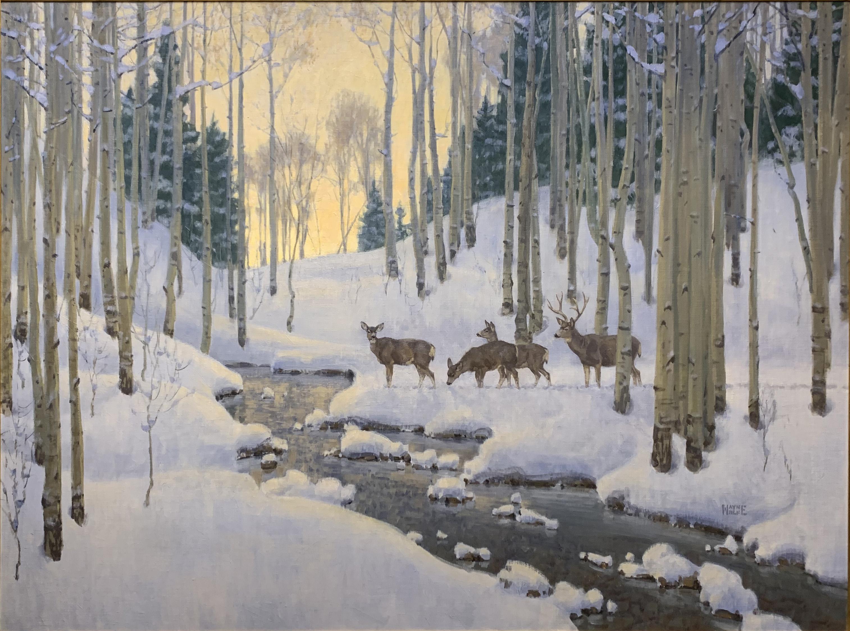 Winter Aspens by Mr. Wayne Wolfe - Masterpiece Online