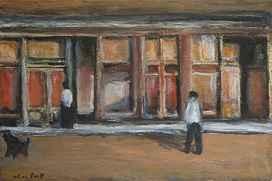 Shop Fronts, Black Dog  by  Alan Post