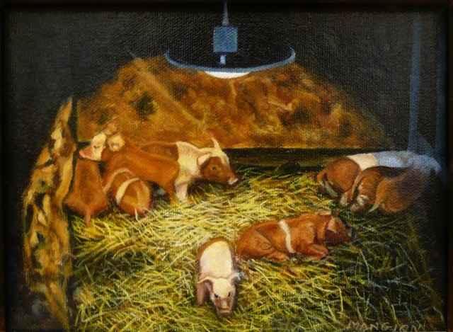 Born in a Manger by  Valerie Mangion - Masterpiece Online