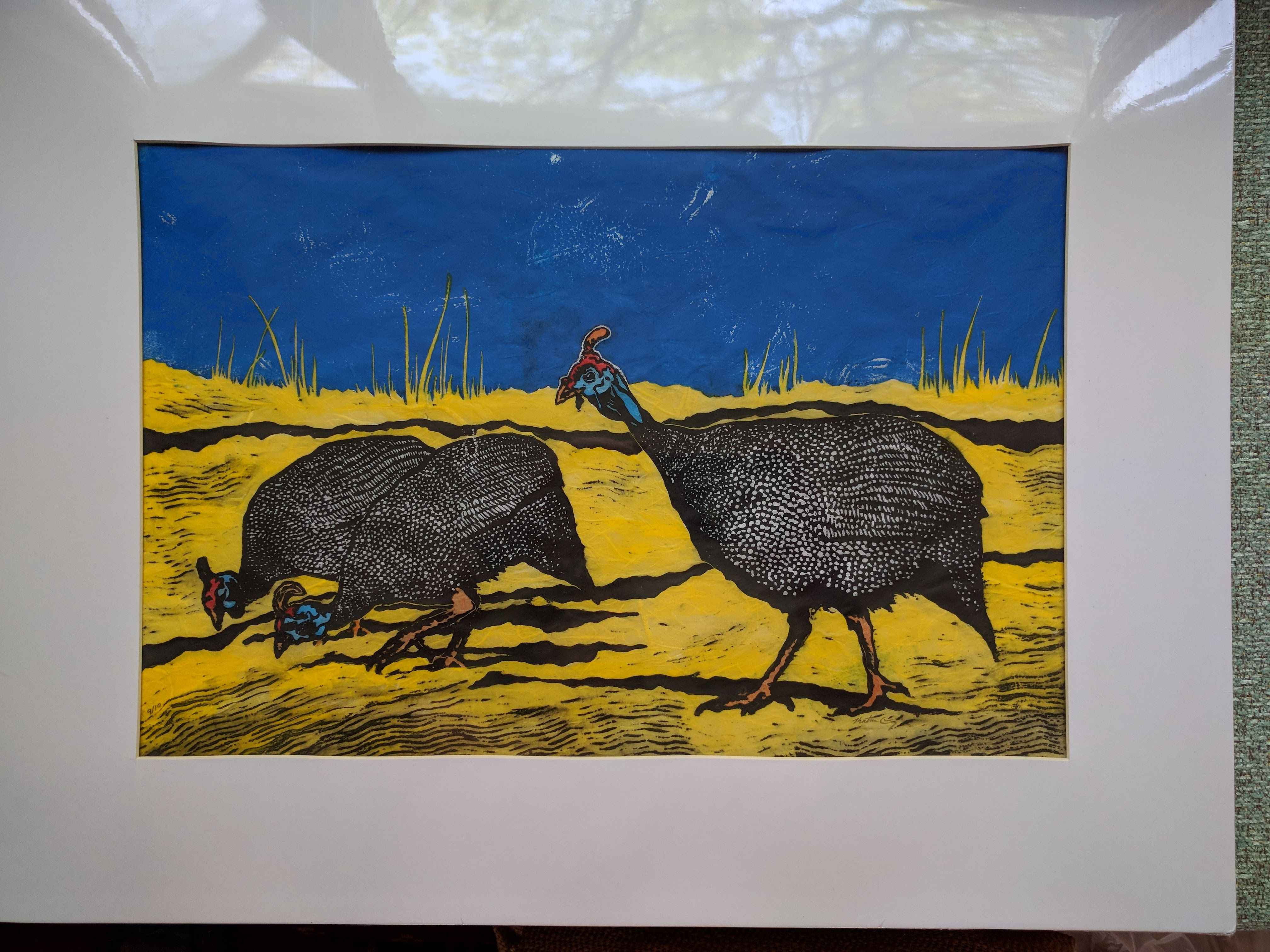 Guinea Fowl (matted) by  Katherine Grey - Masterpiece Online