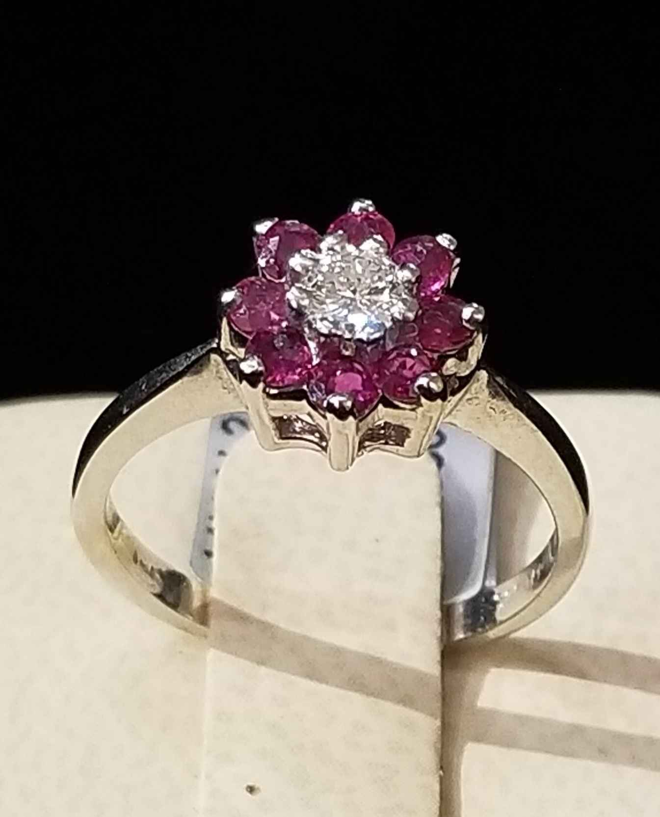 Pink Sapphire Flower ... by  My Jeweler - Masterpiece Online