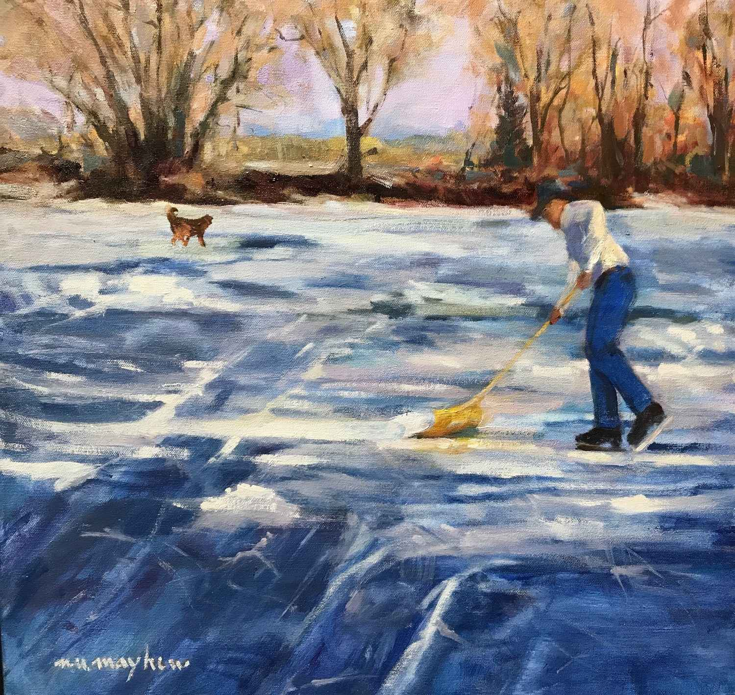 Clearing the Ice by  Mary Ulm Mayhew - Masterpiece Online