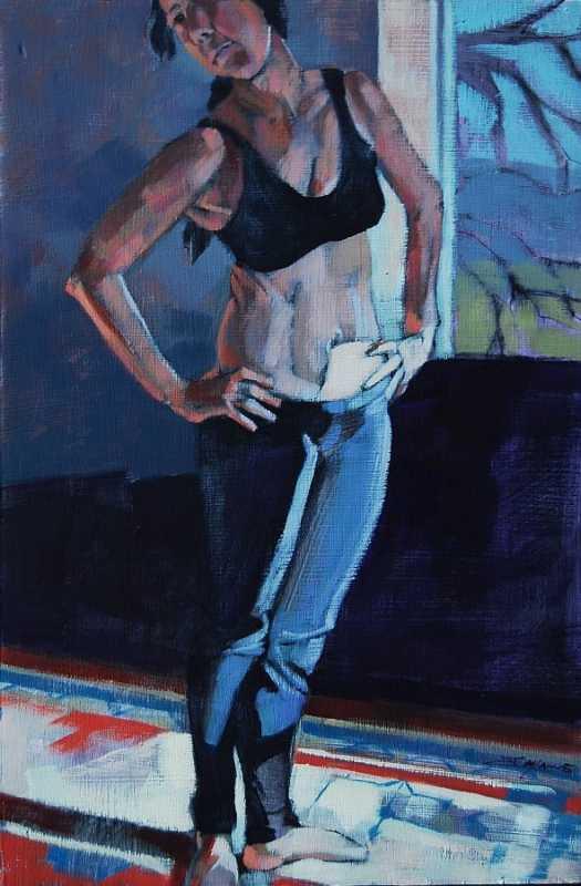 Standing In Low Light by  Jayne Adams - Masterpiece Online