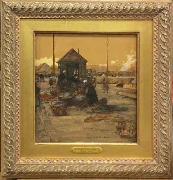 Sur le Yetee le Soir by  Luigi  Loir - Masterpiece Online