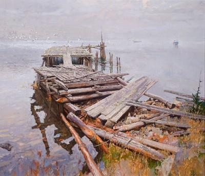 Old Wharf, II, The by  Daud Akhriev - Masterpiece Online
