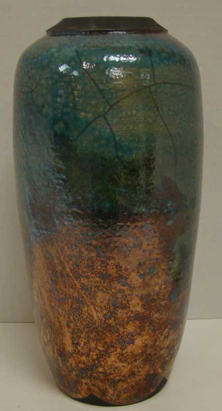 TR093 Raku Pot by  Dan Triece - Masterpiece Online