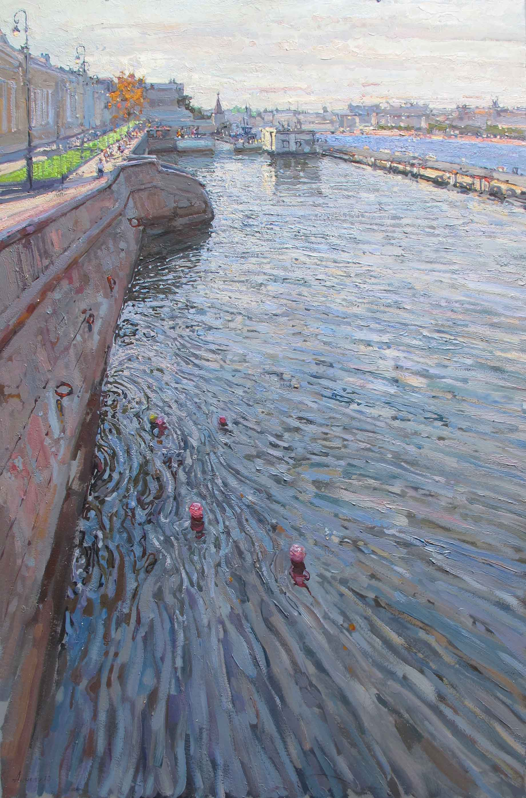 English Embankment by  Daud Akhriev - Masterpiece Online