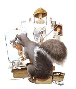 Micawber Self-Portrait  by  C.F. Payne