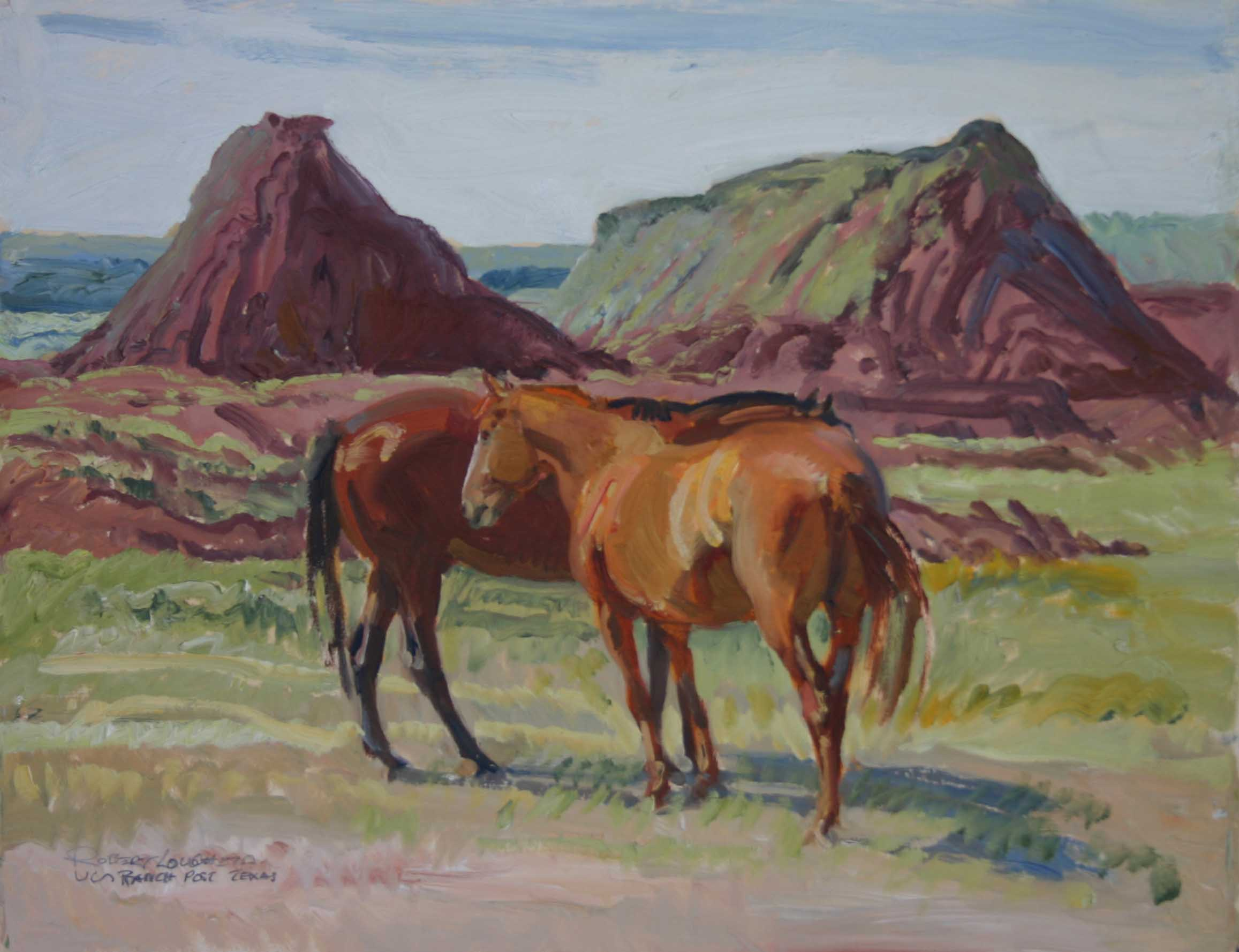 U Lazy S Ranch Horses by  Robert Lougheed - Masterpiece Online