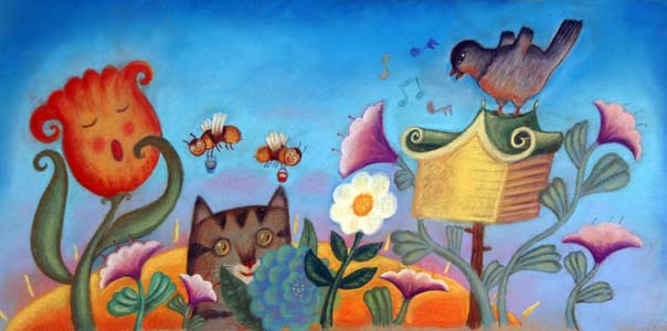 Morning In The Garden by  Mercedes Mcdonald - Masterpiece Online
