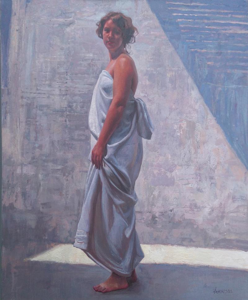 Kate in the Courtyard by  Daud Akhriev - Masterpiece Online