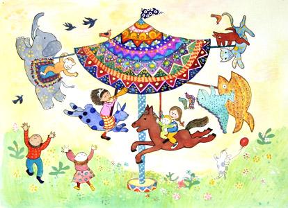 Merry-Go-Round by  Elisa Kleven - Masterpiece Online