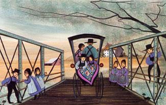 CROSSING THE BRIDGE T... by  P. Buckley Moss  - Masterpiece Online