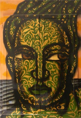 GREEN MAN CABINET by  David Diaz - Masterpiece Online