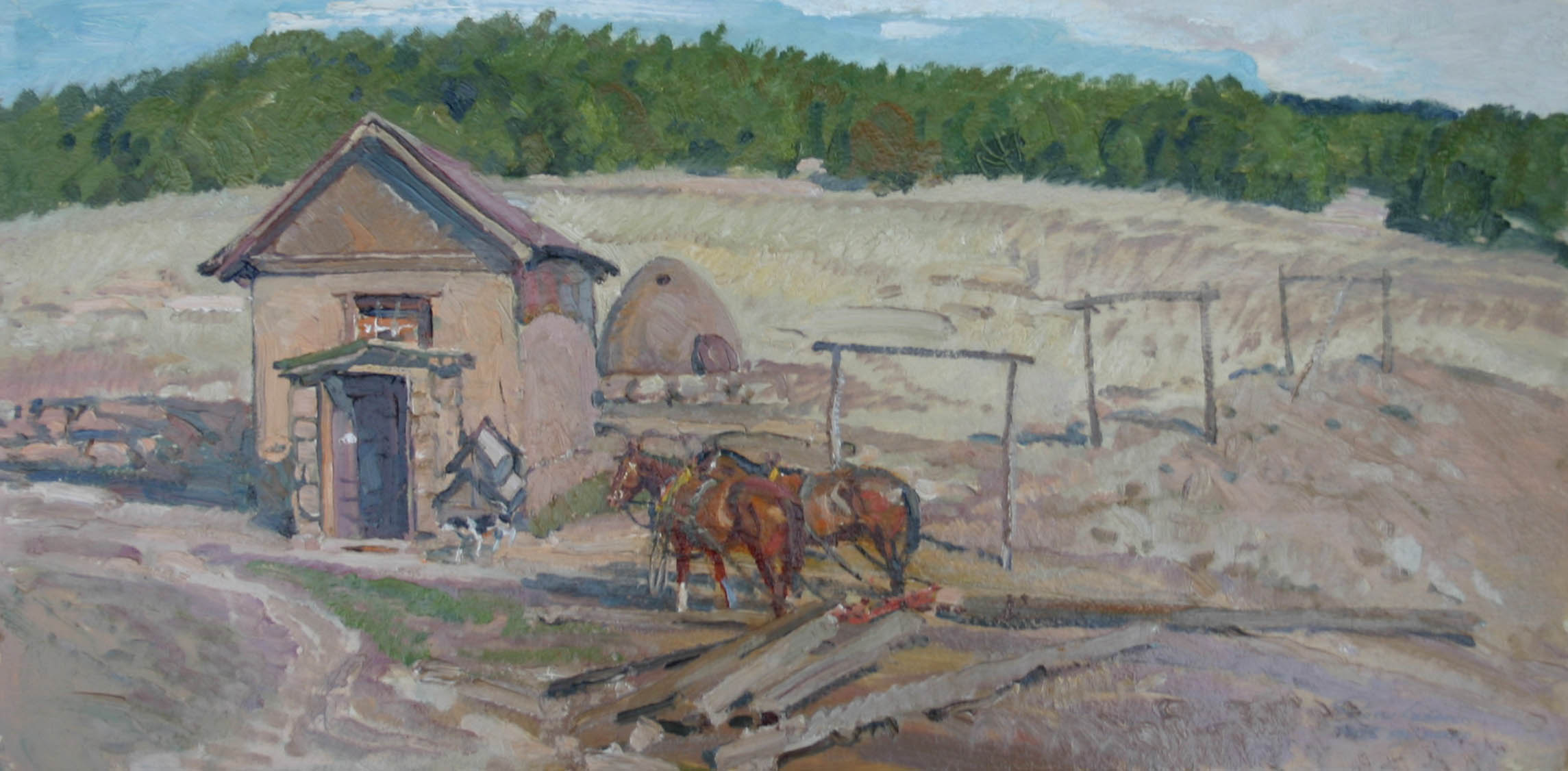 Pecos Team - NM by  Robert Lougheed - Masterpiece Online