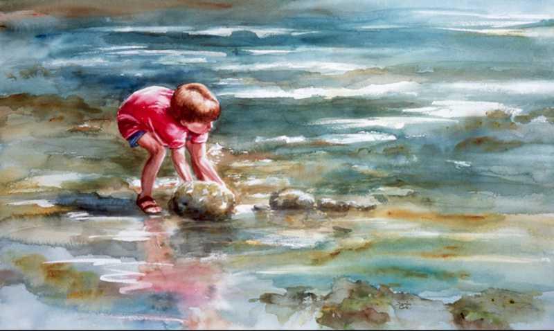 Crab Hunt by Mrs Denise Cole - Oils - Masterpiece Online