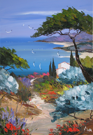 Gulls & Cypress  by  Louis  Magre
